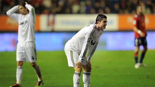 El Madrid empata en Pamplona